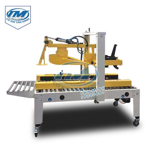 Máy dán băng dính, gấp mép + đai thùng tự động (TMĐG-GA11)