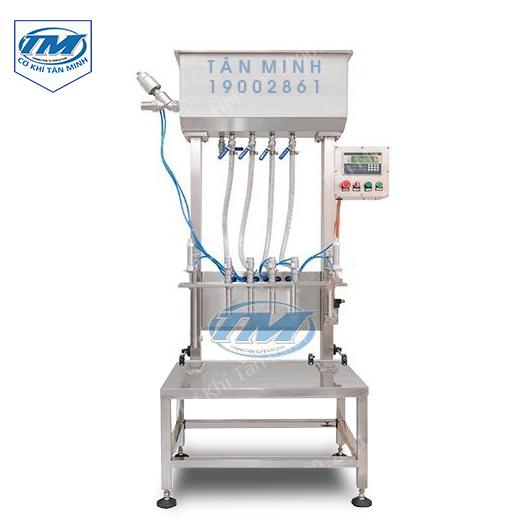 Máy chiết rót dung dịch sệt 4 vòi bán tự động (TMDC-D16)