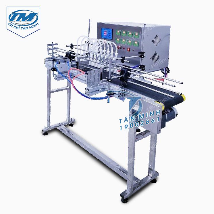 Máy chiết rót dung dịch lỏng 8 vòi tự động (TMDC-D43)