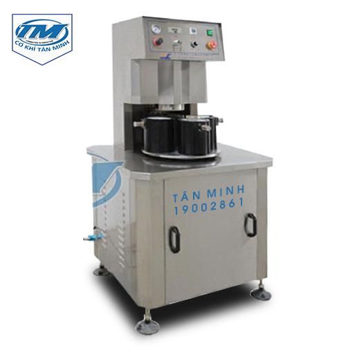 Máy siết nắp hũ chai thủy tinh khí nén (TMDC-DA06)