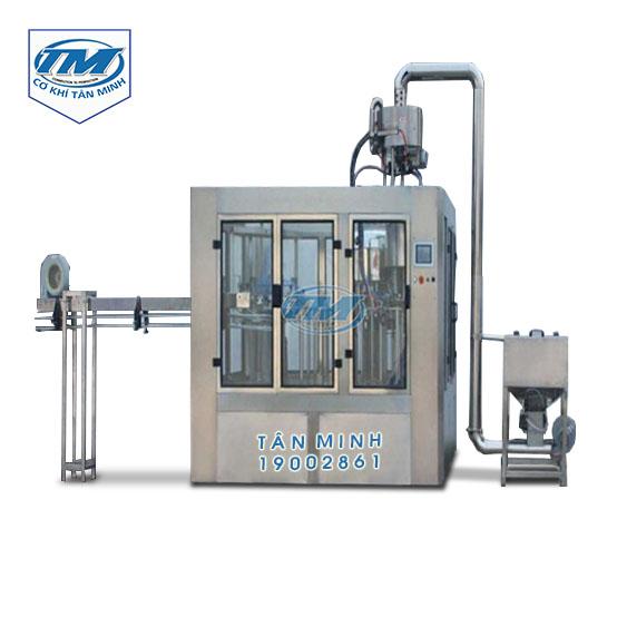 Dây chuyền xúc rửa chiết rót đóng nắp chai nhựa tự động (TMDC-DC01)
