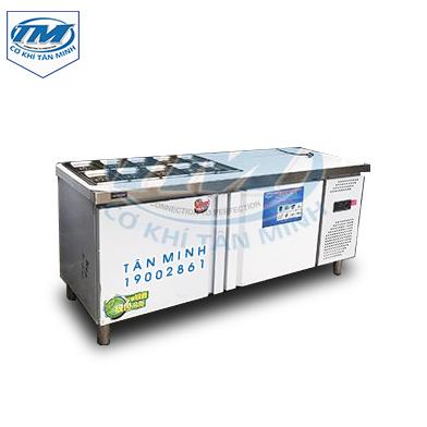 Tủ mát nằm ngang 2 ngăn inox 1.8 m (TMTP-PC14)
