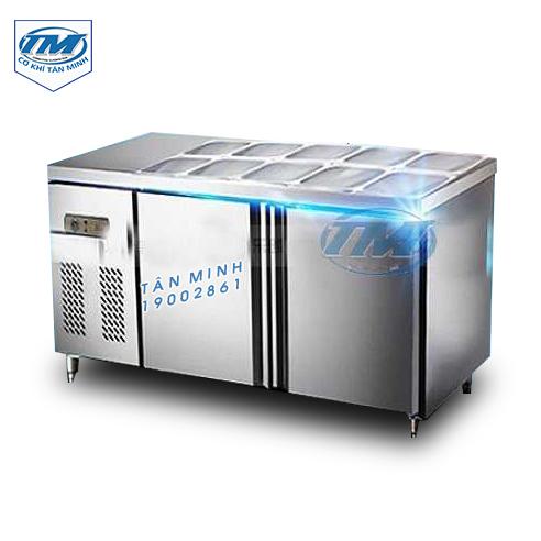 Tủ mát nằm ngang 2 ngăn inox 2 m (TMTP-PC15)