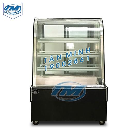 Tủ trưng bày bánh kem kính cong 4 tầng (90cm) (TMTQ-A07)