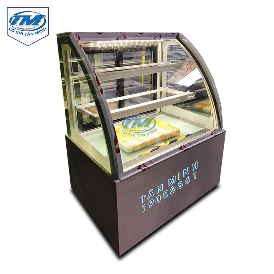 Tủ trưng bày bánh kem kính cong 3 tầng 1.2m (TMTQ-A12)