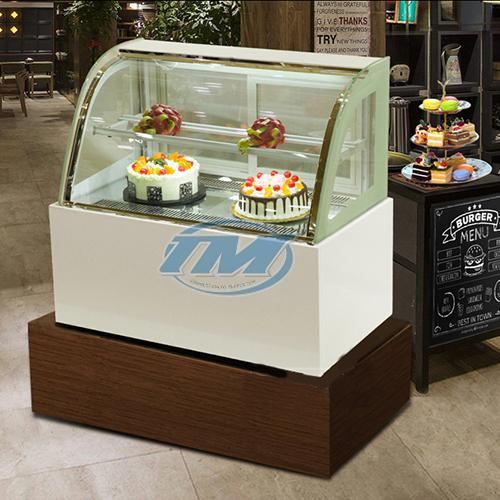 Tủ trưng bày bánh kem kính cong 2 tầng (90cm) (TMTQ-A05)