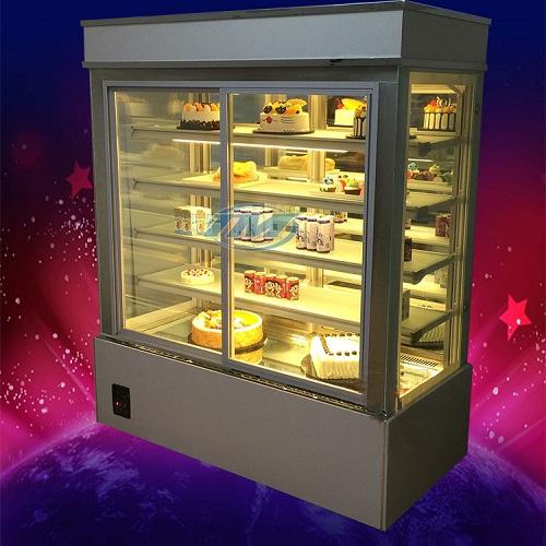 Tủ trưng bày bánh kem kính phẳng 5 tầng (90cm) (TMTQ-A08)