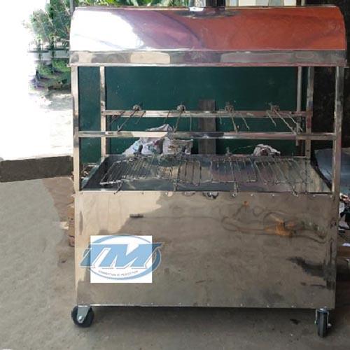 Xe quay vịt 2 tầng 6 xiên Inox (TMTP-IA10)