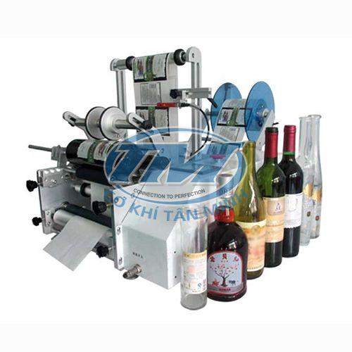 Máy dán nhãn decan chai tròn 2 mặt bán tự động (TMĐG-H17)