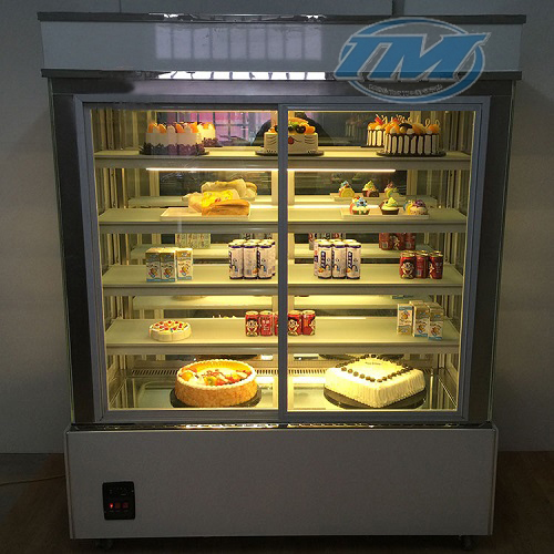Tủ trưng bày bánh kem kính phẳng 5 tầng (1.2m) (TMTQ-A09)