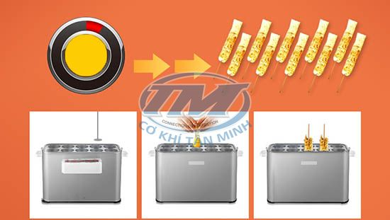 Máy làm bánh trứng trộn giá ( TMTP-I54)