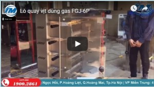Lò quay vịt dùng gas FGJ-6p