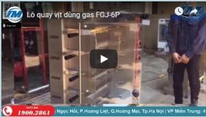 Video: Lò quay vịt dùng gas FGJ-6p