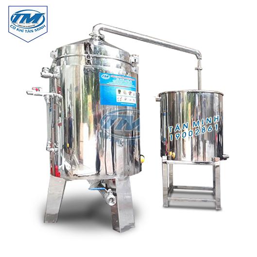 Bộ nồi nấu rượu và trưng cất 100Kg/mẻ inox (TMCN-AC15)